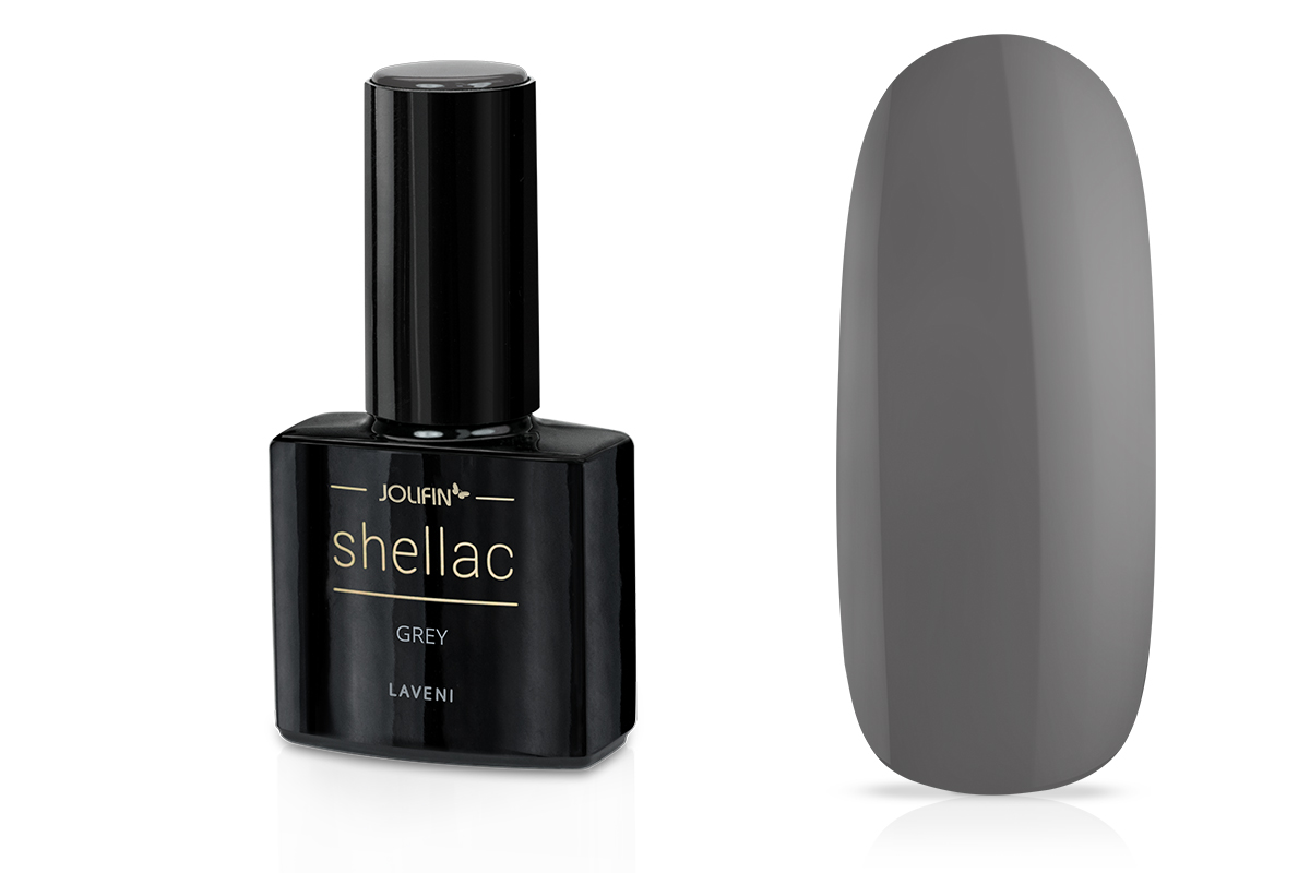 Jolifin LAVENI Shellac - grey 12ml