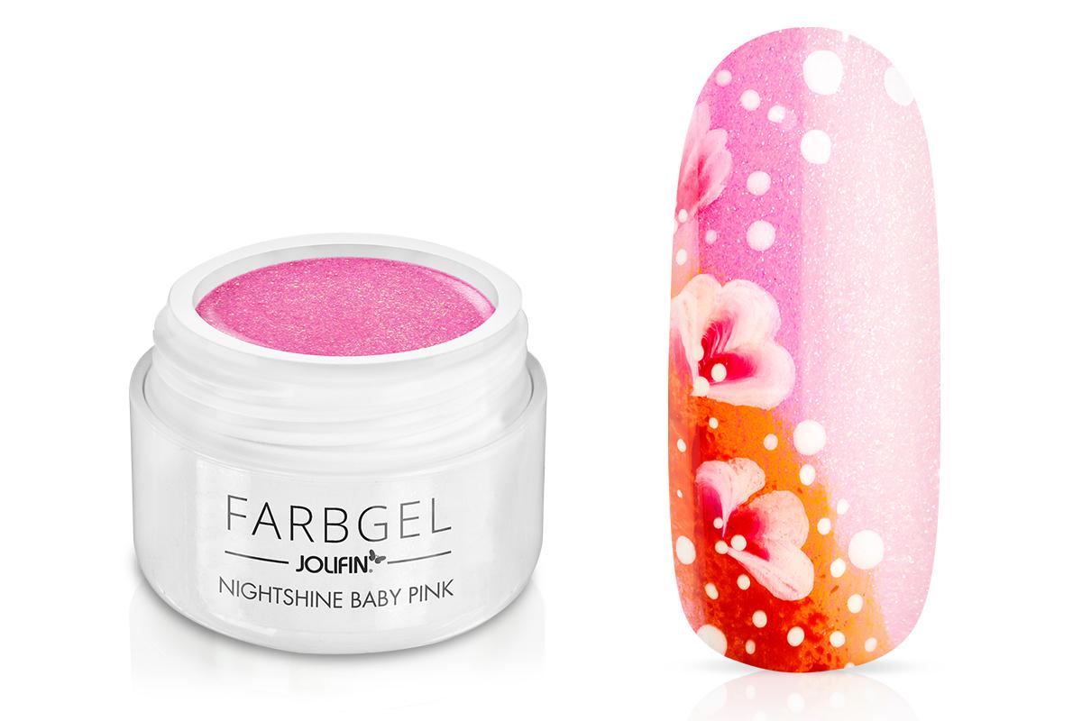 Jolifin Farbgel Nightshine baby pink 5ml