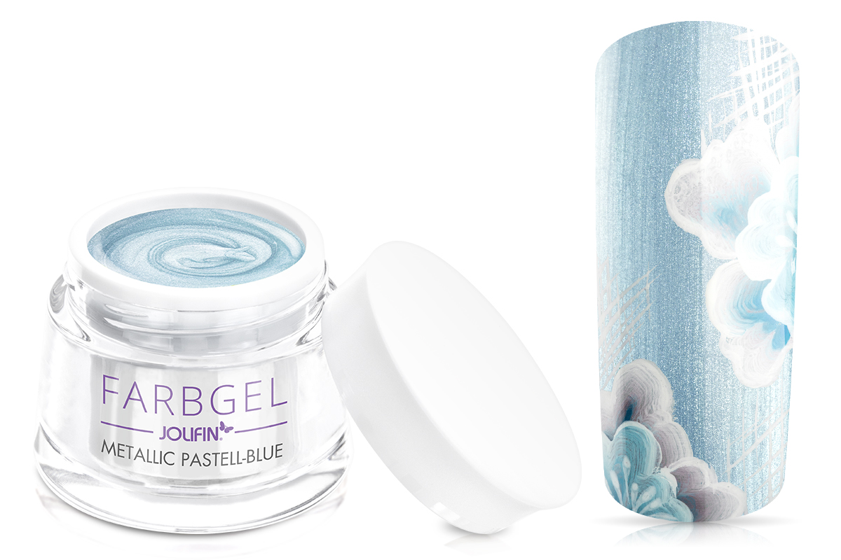 Jolifin Farbgel metallic pastell-blue 5ml