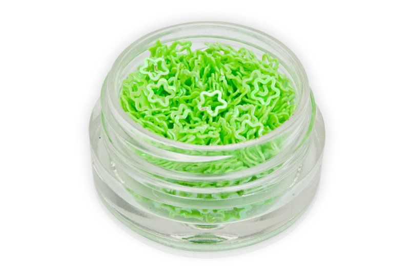 Jolifin Hologramm Blüten - hellgrün