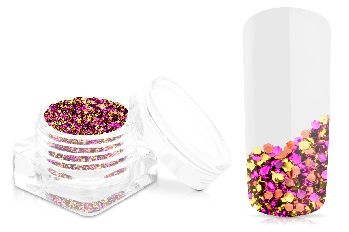 Jolifin Chrome Glitter - golden pink