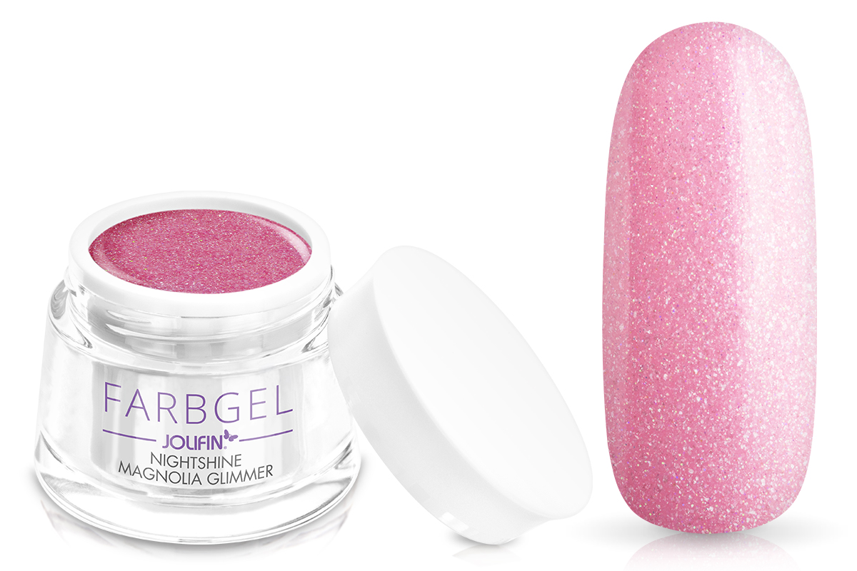 Jolifin Farbgel Nightshine magnolia Glimmer 5ml