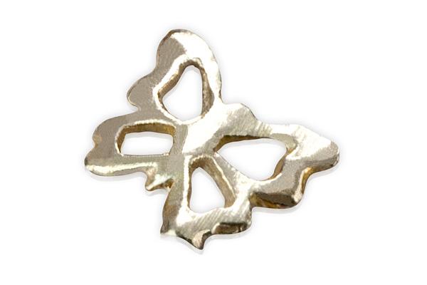 Jolifin Inlay kleiner Schmetterling Silber