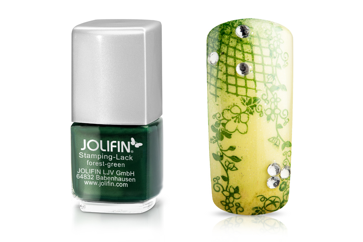 Jolifin Stamping-Lack - forest green 12ml