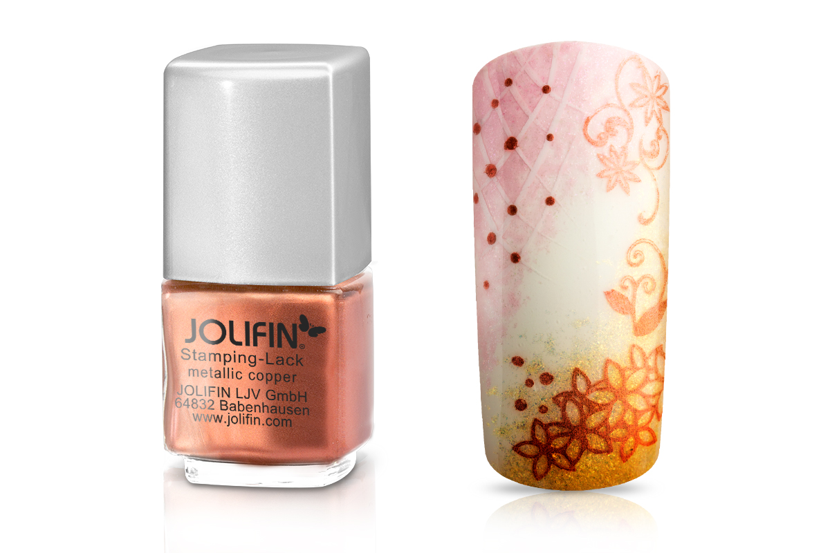Jolifin Stamping-Lack - metallic copper 12ml