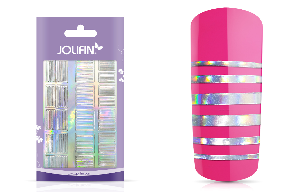 Jolifin Hologramm Sticker XL - Stripes
