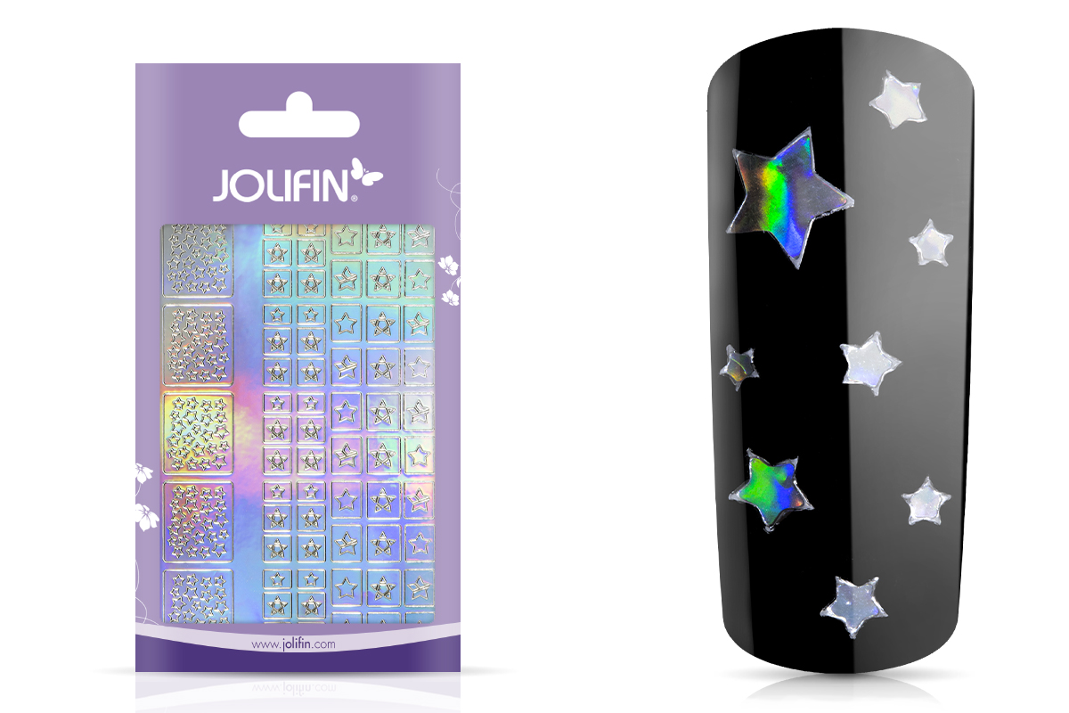 Jolifin Hologramm Sticker XL - Stars