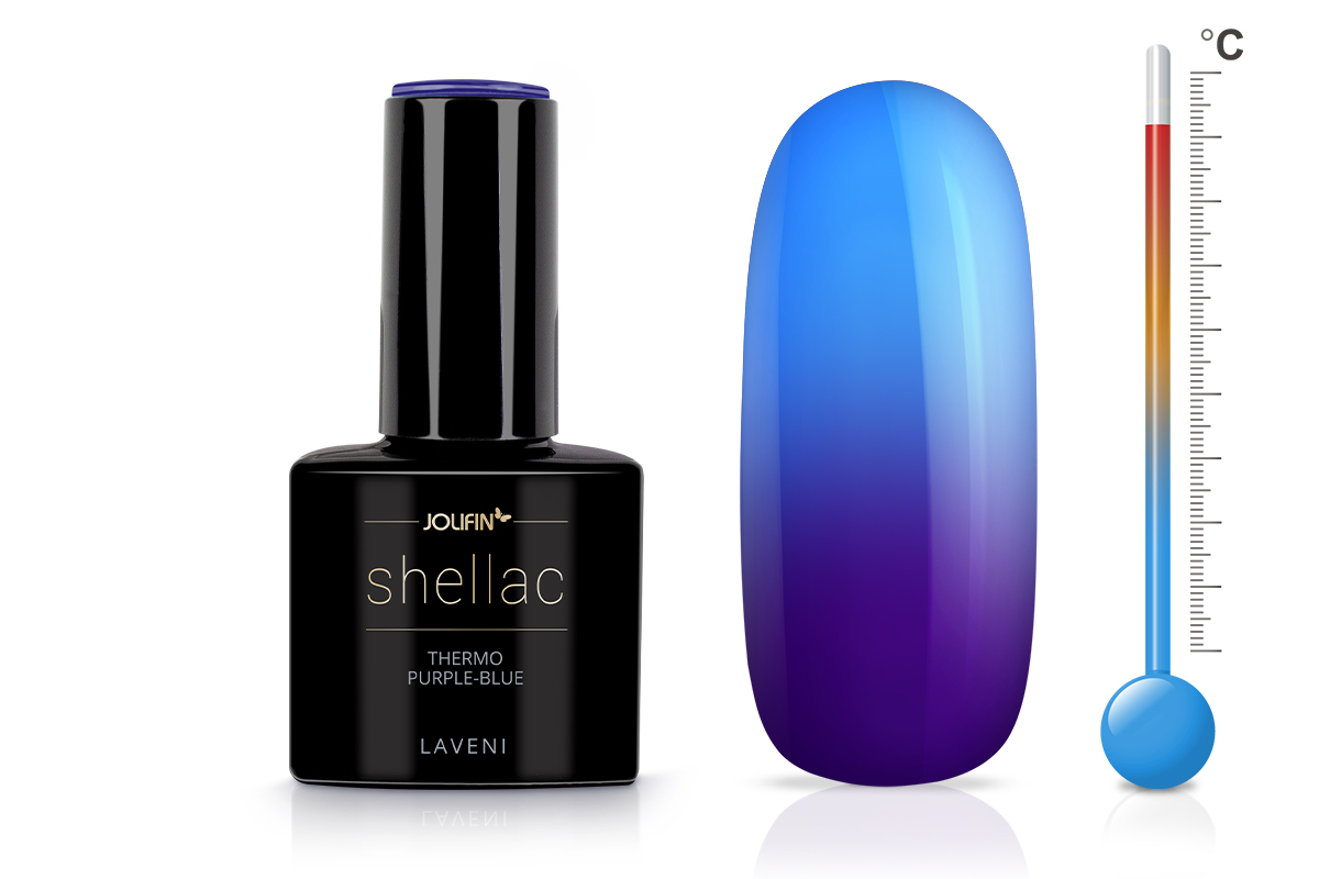 Jolifin LAVENI Shellac - Thermo purple-blue 12ml