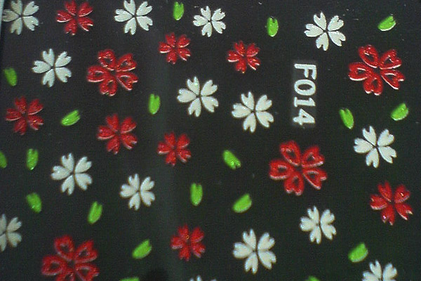 3D-Sticker Flowers Design 26