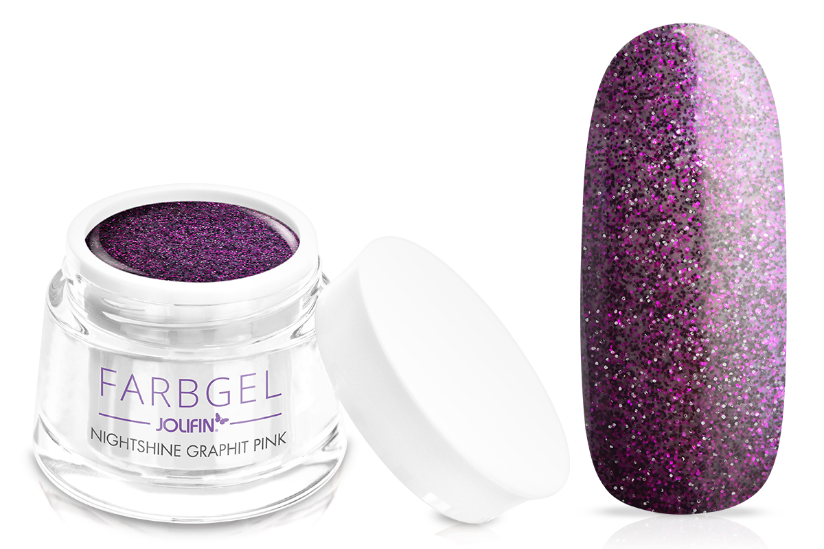 Jolifin Farbgel Nightshine graphit pink 5ml