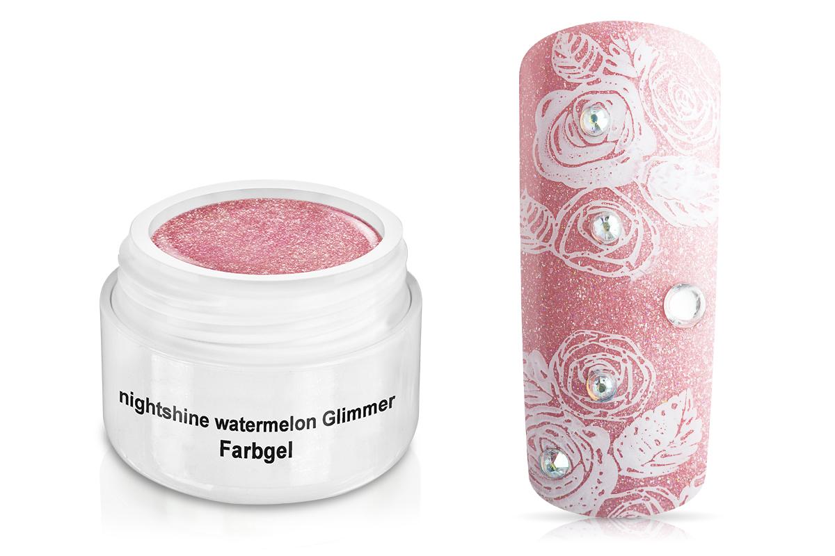 Farbgel Nightshine watermelon Glimmer 5ml