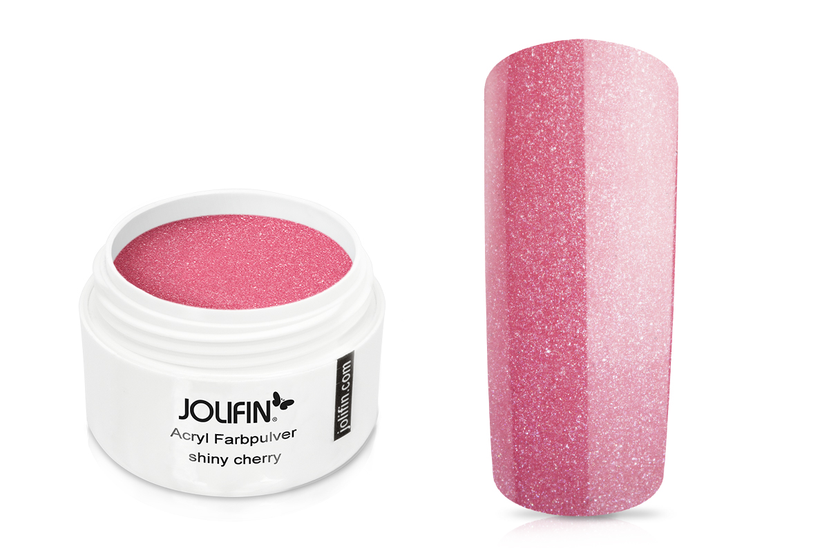 Jolifin Acryl Farbpulver - shiny cherry 5g