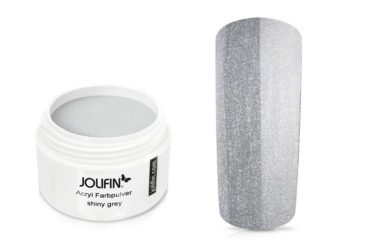 Jolifin Acryl Farbpulver shiny grey 5g