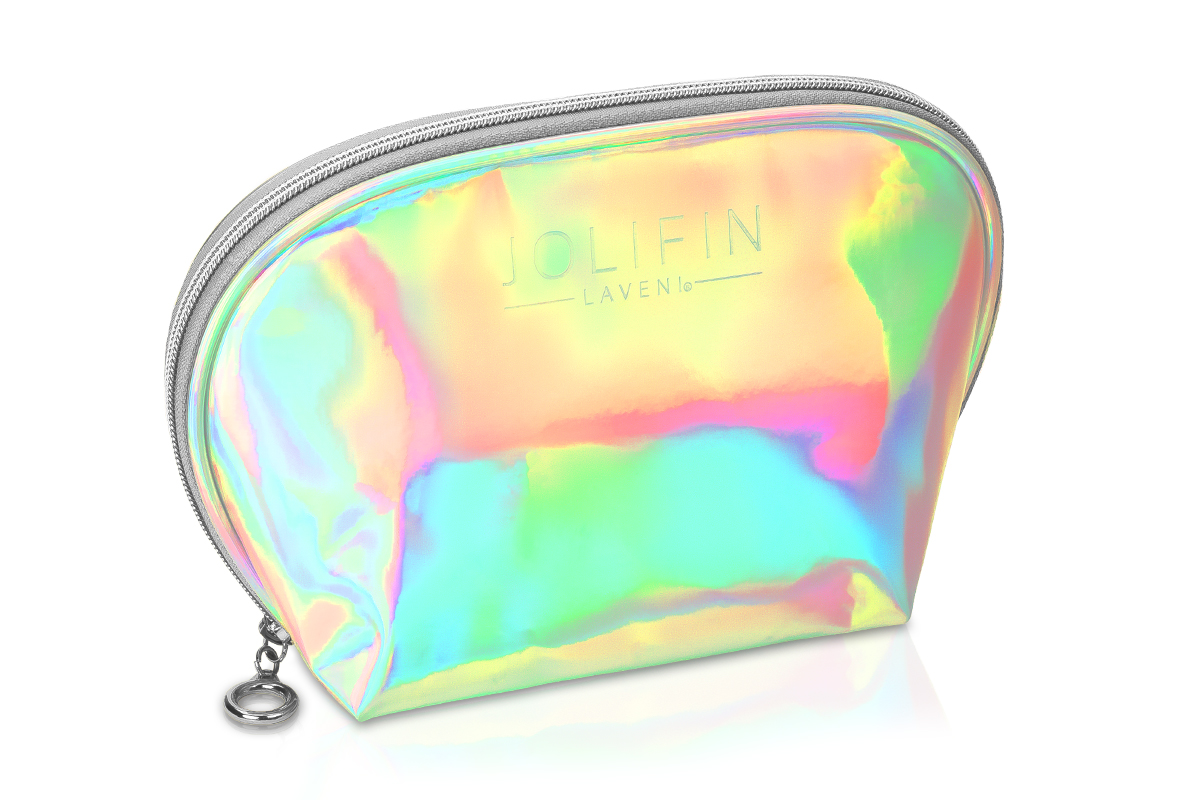 Jolifin LAVENI Cosmetic Bag - unicorn silver
