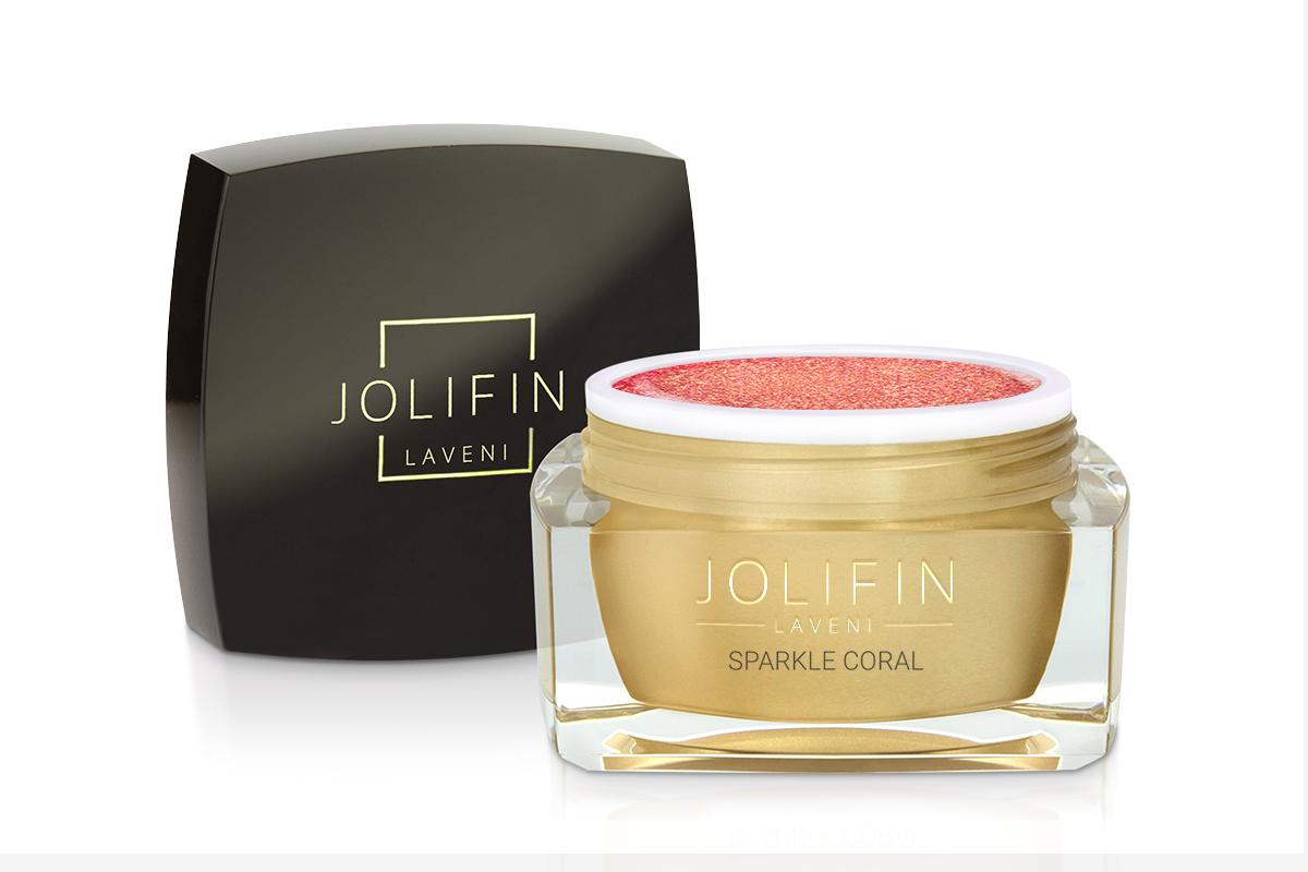 Jolifin LAVENI Farbgel - sparkle coral 5ml