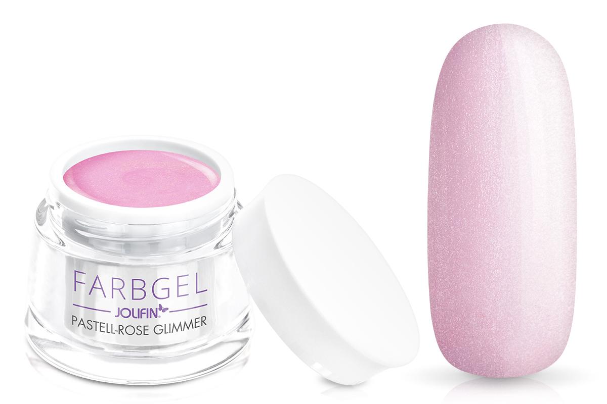 Jolifin Farbgel pastell-rose Glimmer 5ml