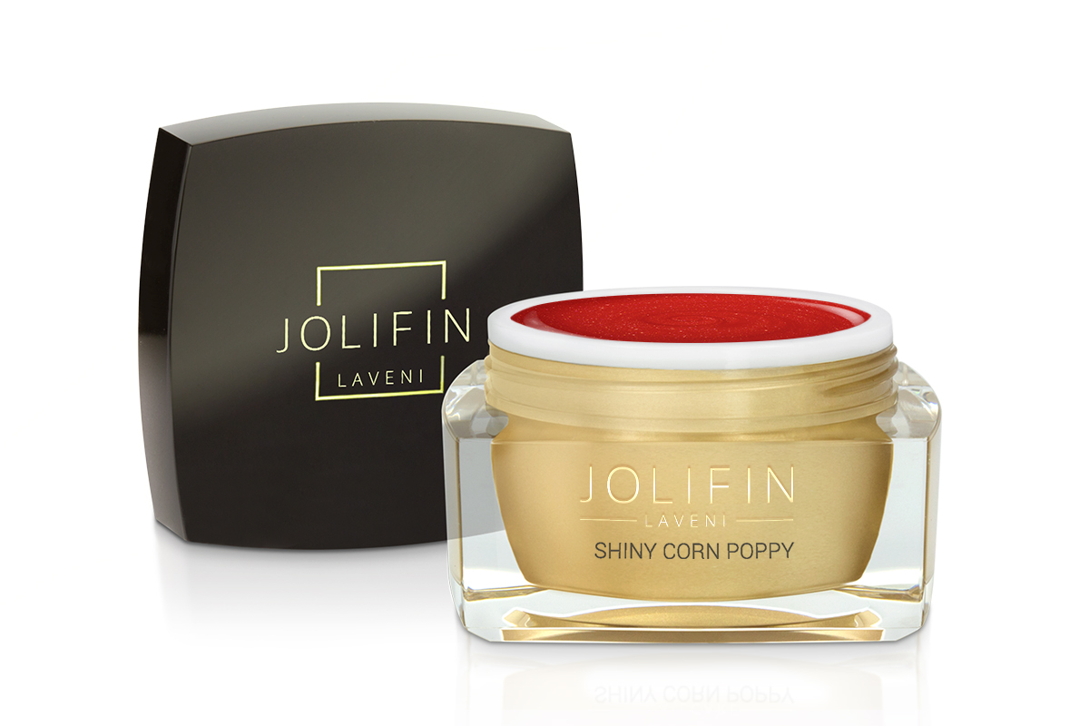 Jolifin LAVENI Farbgel - shiny corn poppy 5ml