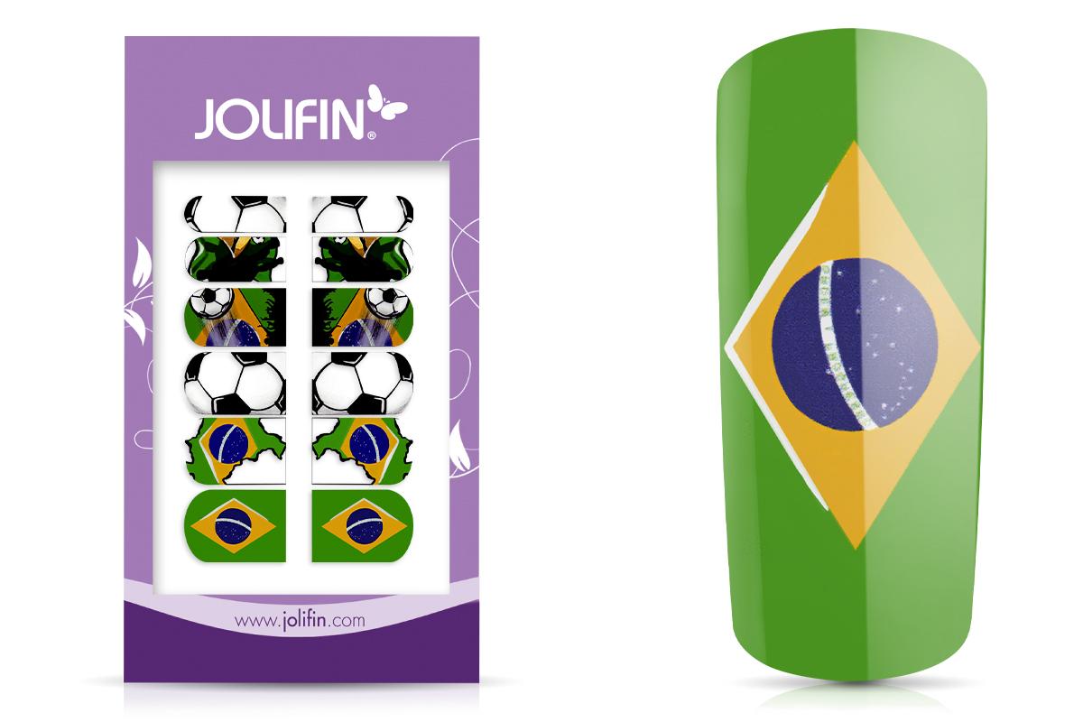 Jolifin Fussball Tattoo Wrap - Brazil