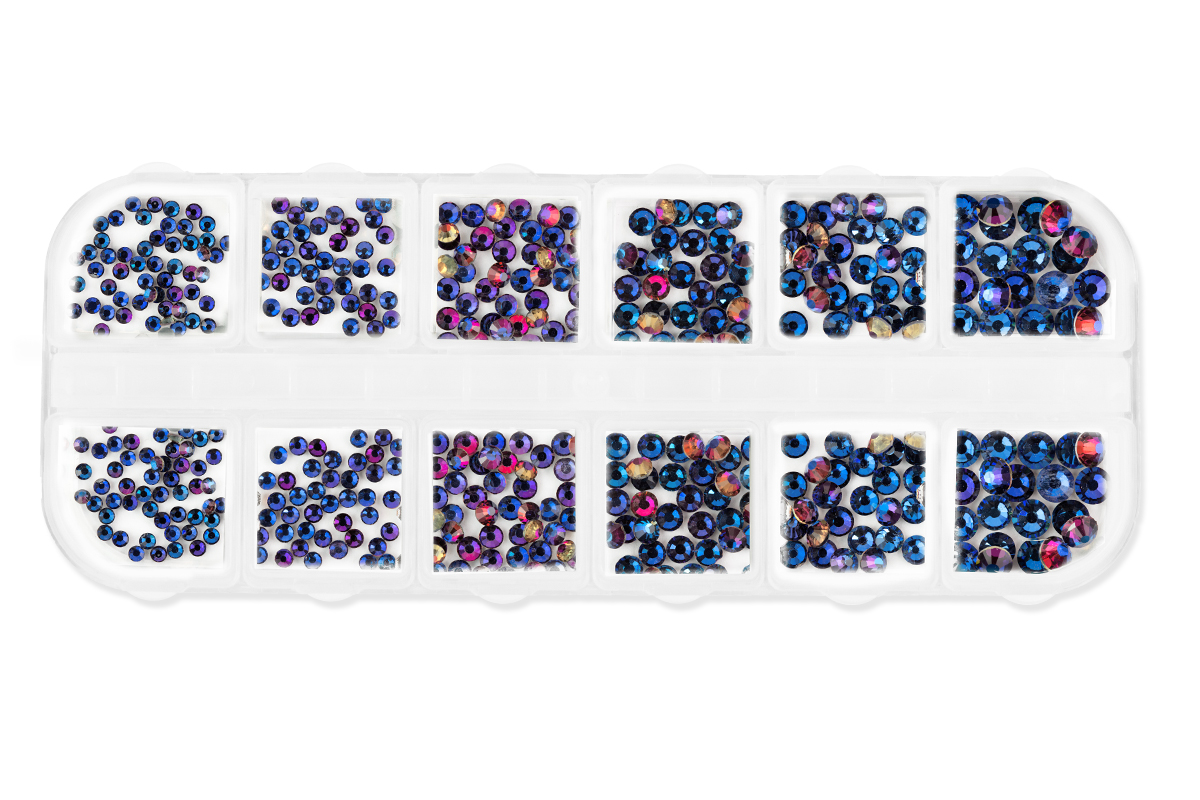 Jolifin LAVENI Strass-Display XL - FlipFlop purple & blue