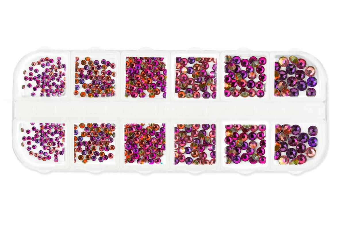 Jolifin LAVENI Strass-Display XL - FlipFlop pink & orange