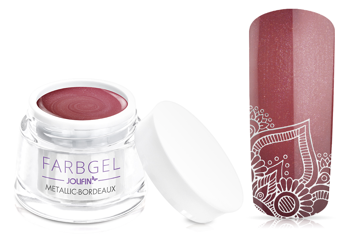 B-Ware Farbgel metallic bordeaux 5ml