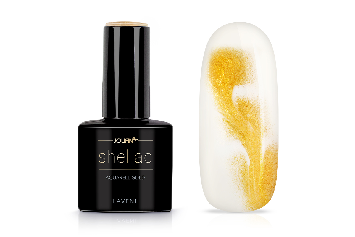 Jolifin LAVENI Shellac Aquarell - gold 12ml