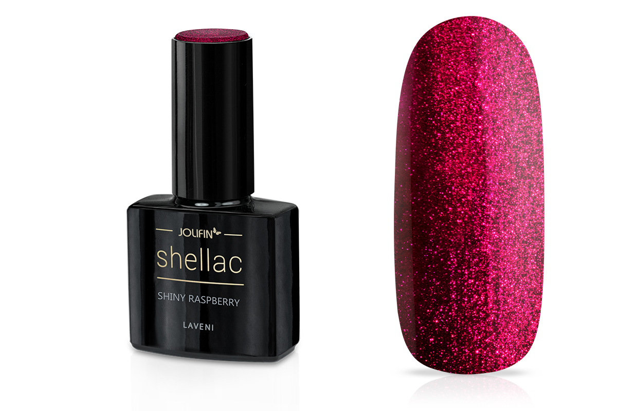 Jolifin LAVENI Shellac - shiny raspberry 12ml