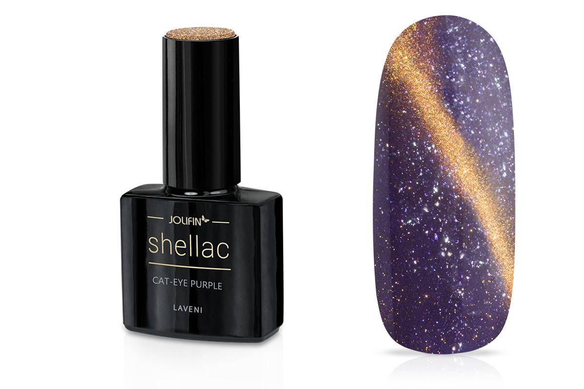 Jolifin LAVENI Shellac - Cat-Eye purple 12ml