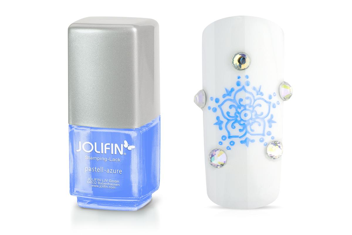 Jolifin Stamping-Lack - pastell-azure 12ml