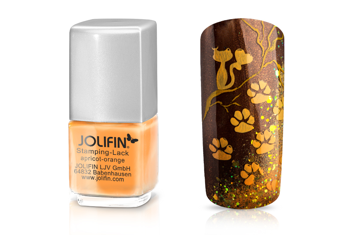 Jolifin Stamping-Lack - apricot-orange 12ml
