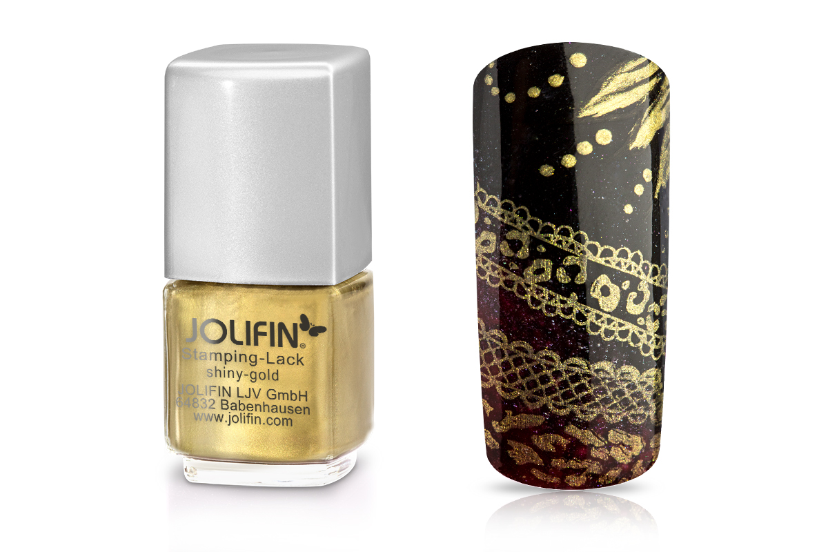 Jolifin Stamping-Lack - shiny-gold 12ml