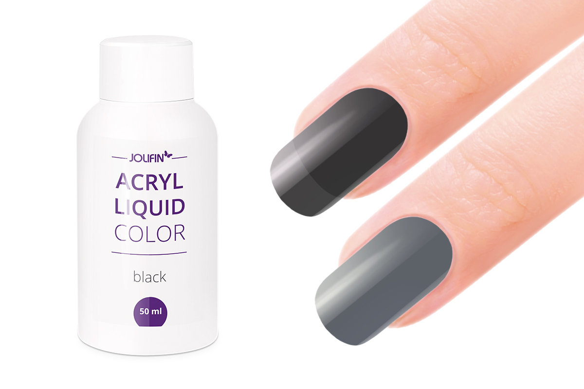 Jolifin Color Acryl-Liquid - black 50ml