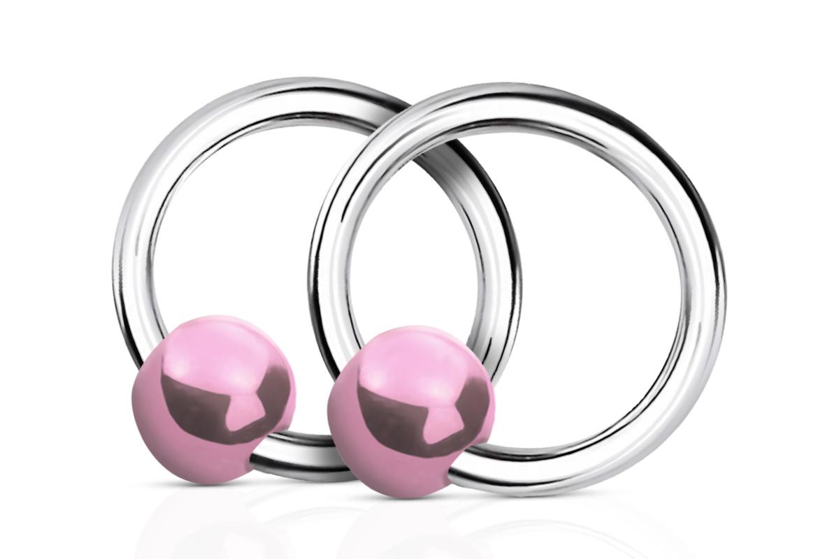 Jolifin Nagel-Piercing 925-Silber- Kugel Perlmutt Rosa - Pretty Nail Shop 24