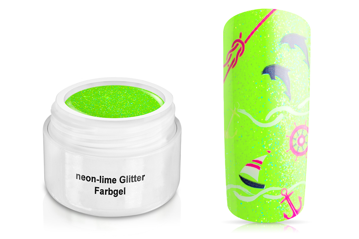 Farbgel neon-lime Glitter 5ml