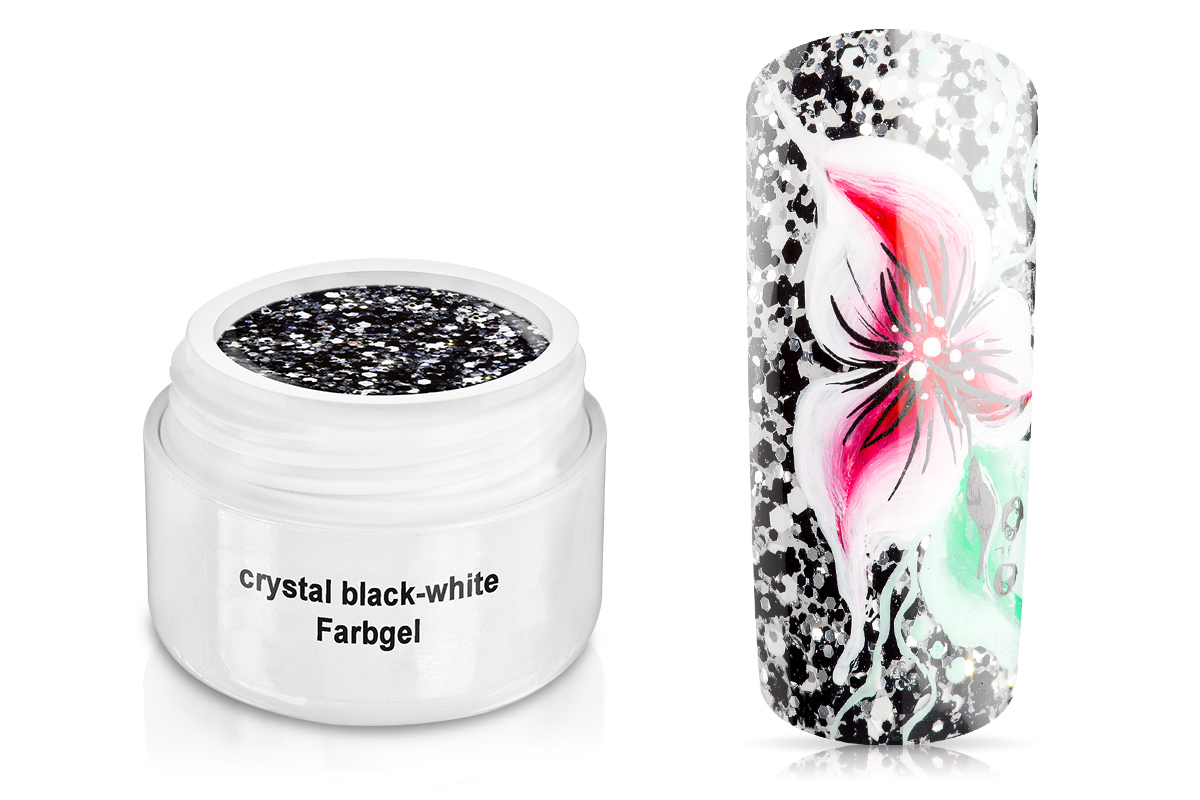 Farbgel crystal black-white 5ml