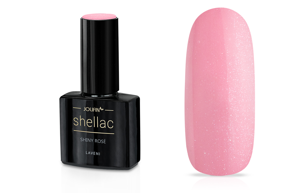Jolifin LAVENI Shellac - shiny rosé 12ml