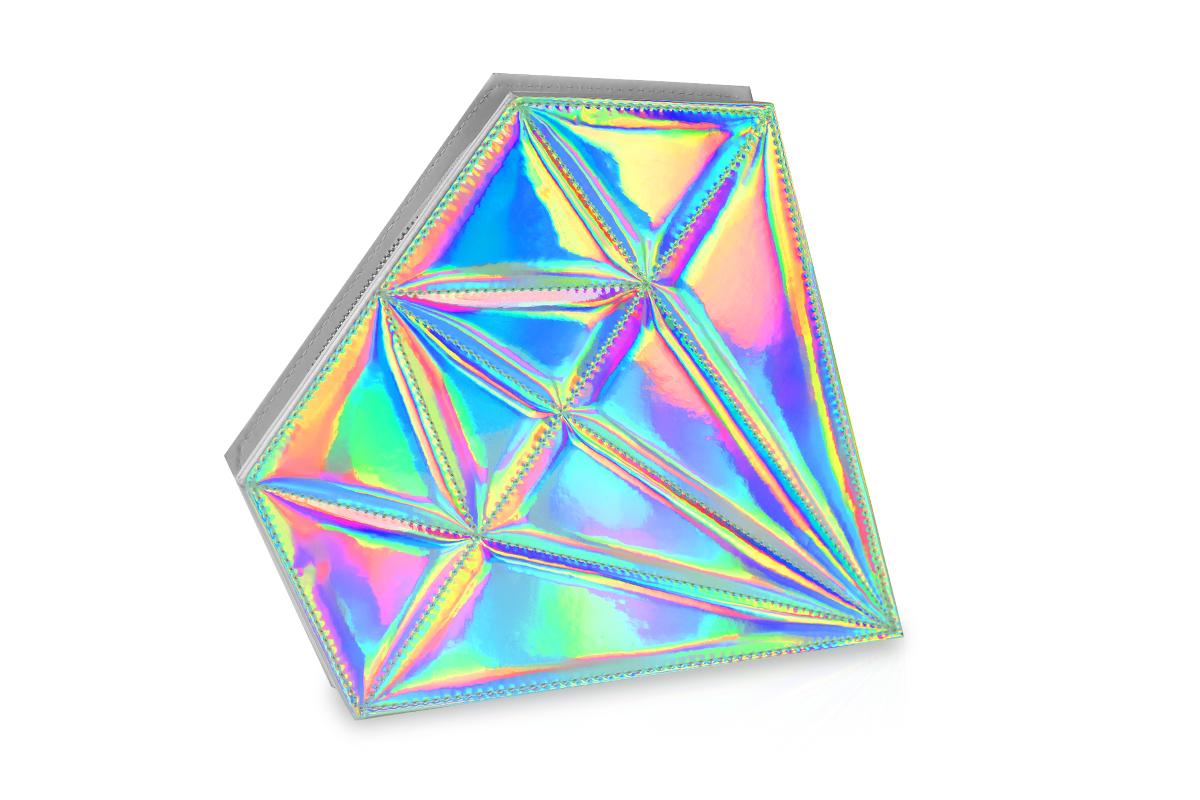 Jolifin Pinseltasche - Hologramm Diamant