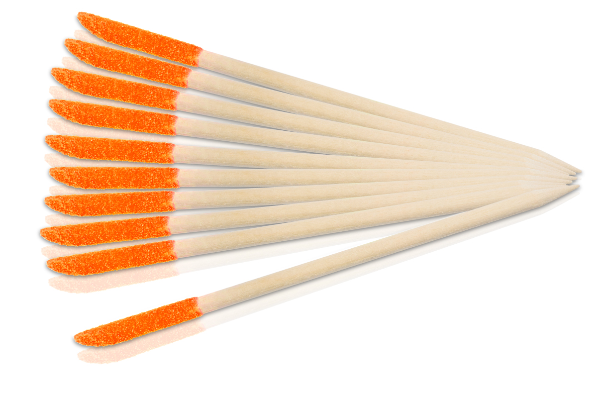 Jolifin 2in1 Orangenholzstäbchen - orange