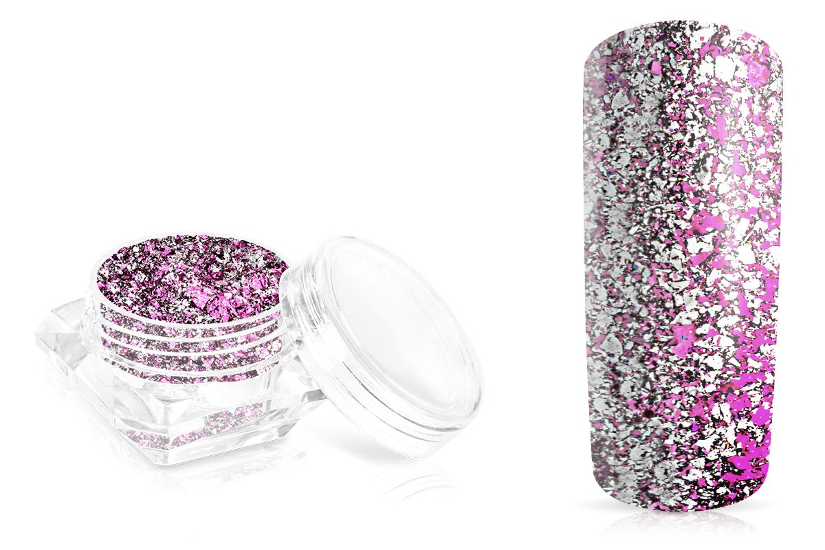 Jolifin LAVENI Mirror-Flakes - silver candy