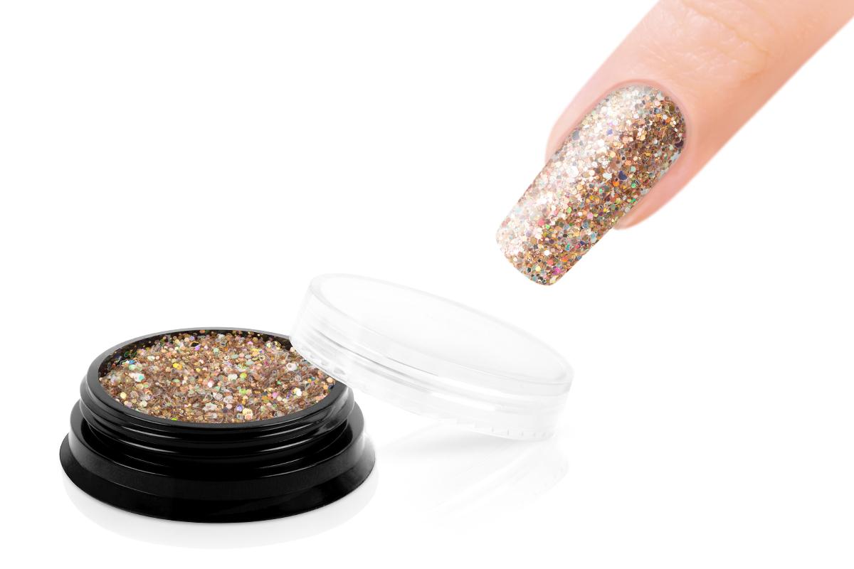 Jolifin LAVENI Luxury Glitter - golden champagne