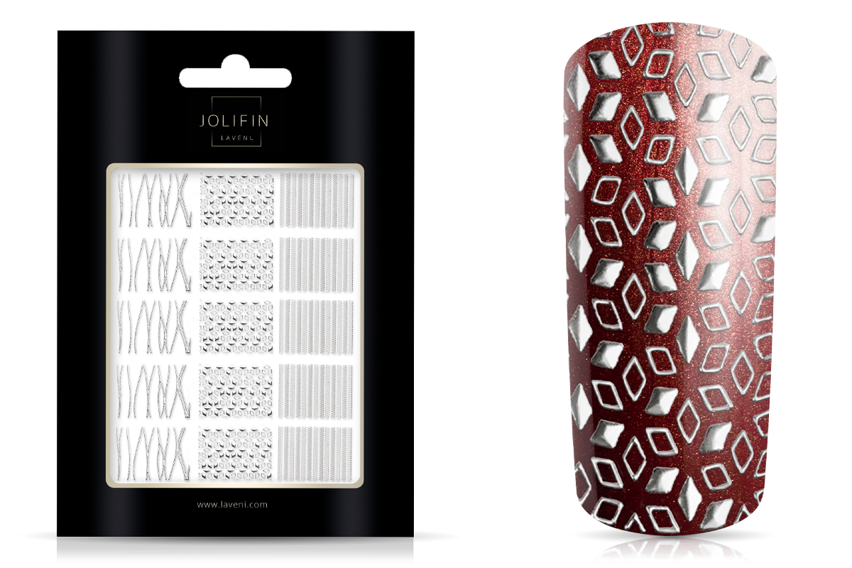 Jolifin LAVENI XL Sticker Wrap - Nr. 2 silver
