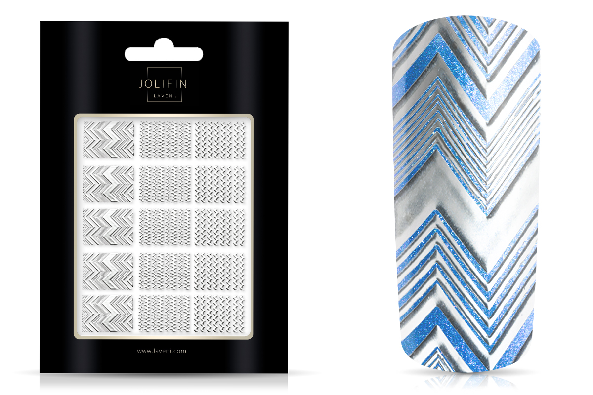Jolifin LAVENI XL Sticker Wrap - Nr. 5 silver