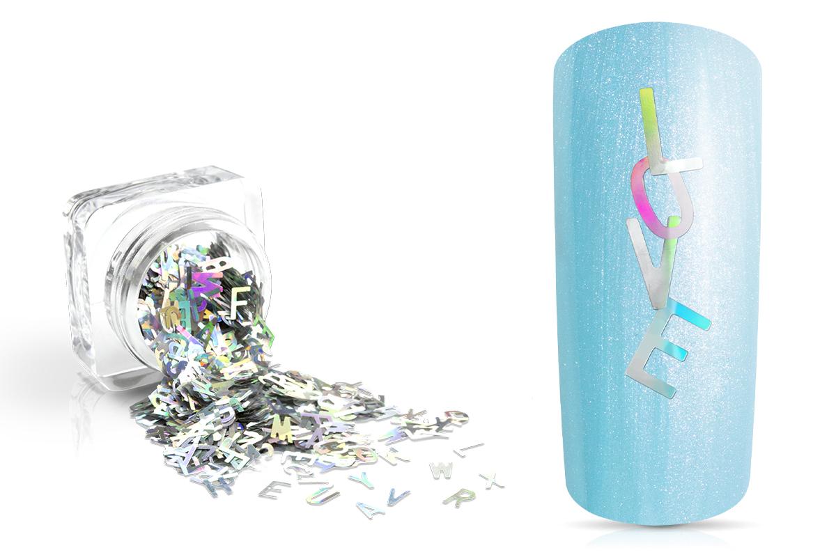 Jolifin Einleger - Buchstaben silber Hologramm
