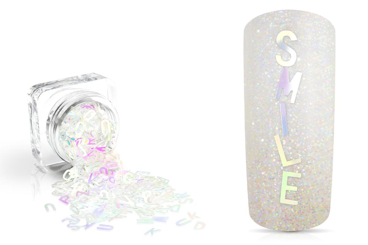 Jolifin Einleger - Buchstaben weiß Hologramm