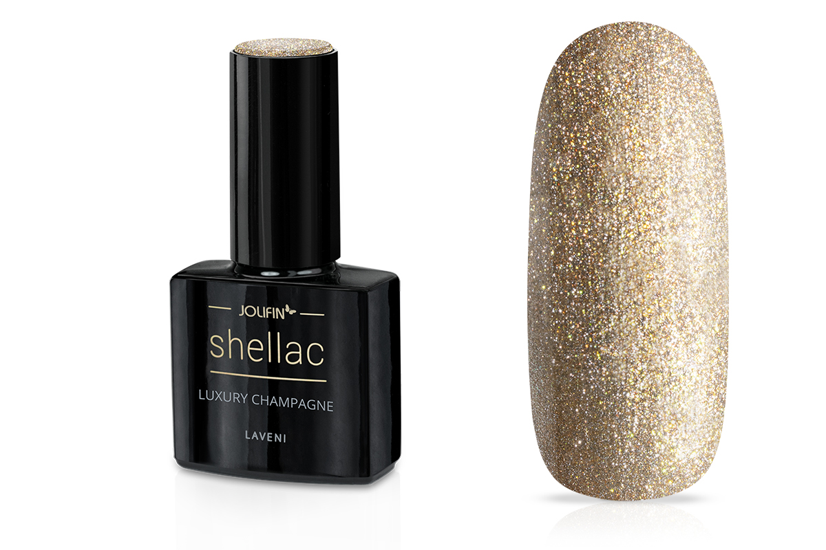 Jolifin LAVENI Shellac - luxury champagne 12ml