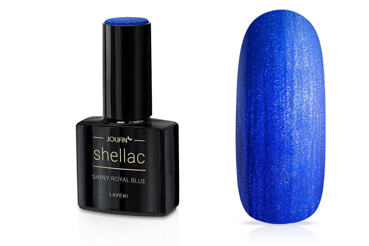 Jolifin LAVENI Shellac - shiny royal blue 12ml