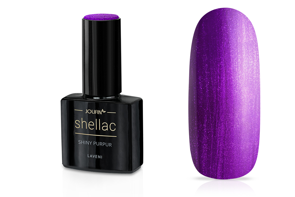 Jolifin LAVENI Shellac - shiny purpur 12ml