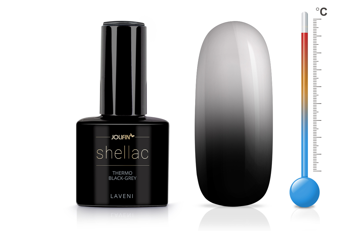 Jolifin LAVENI Shellac - Thermo black-grey 12ml