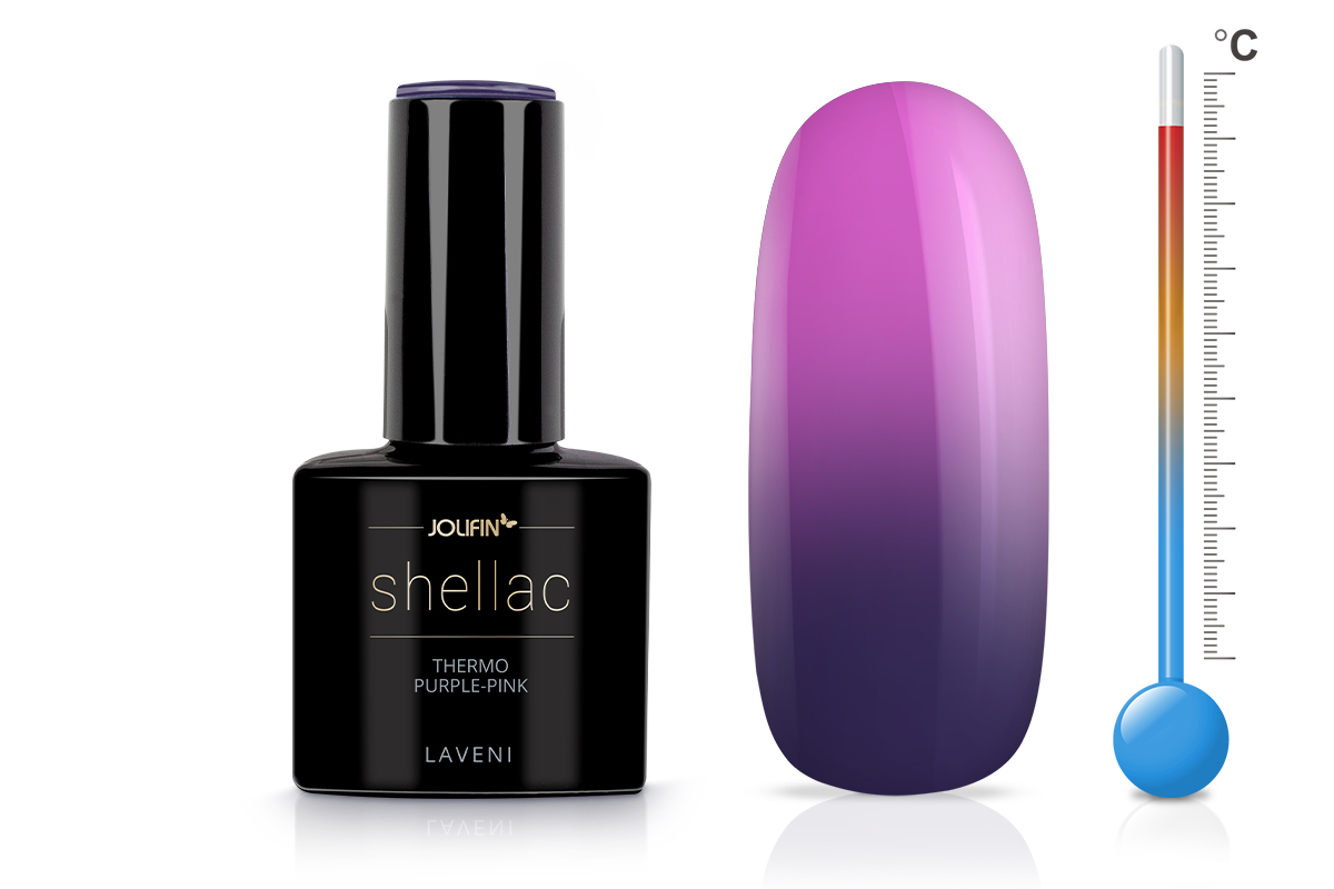 Jolifin LAVENI Shellac - Thermo purple-pink 12ml