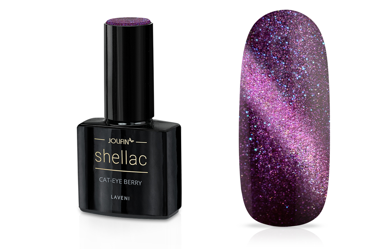 Jolifin LAVENI Shellac - Cat-Eye berry 12ml